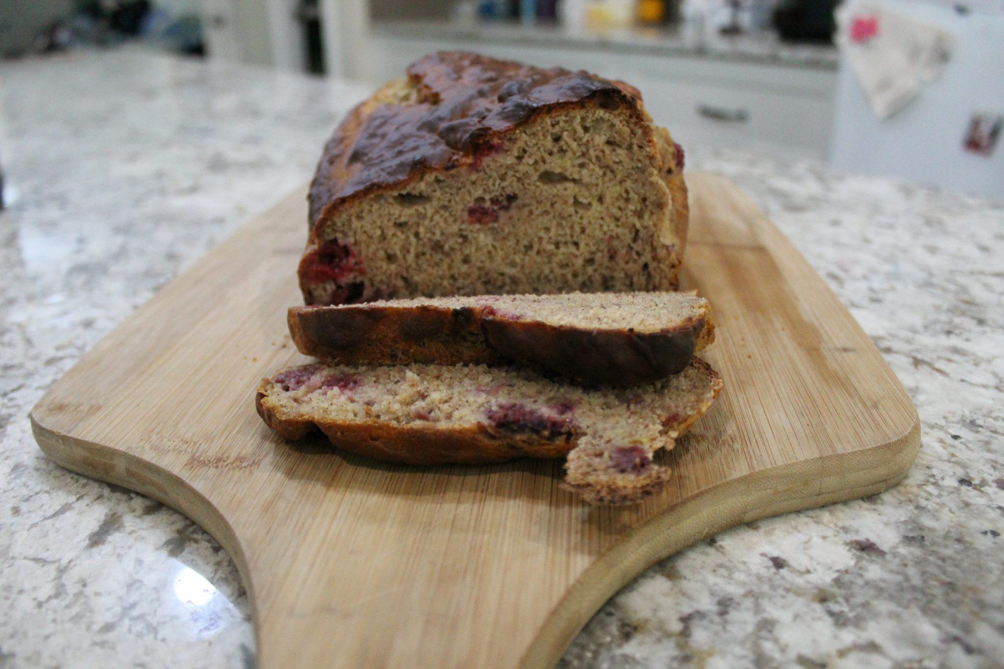 Helen Barnett APD Dietitian Orange Bathurst NSW Banana and Raspberry Bread